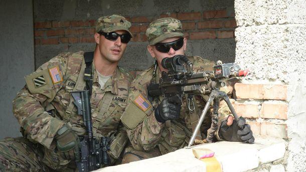 Американские солдаты на учениях в Украине
