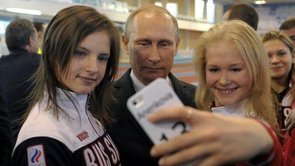 Володимир Путін і спортсменки