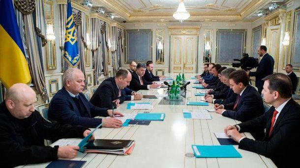 Нарада Порошенка з керівниками фракцій