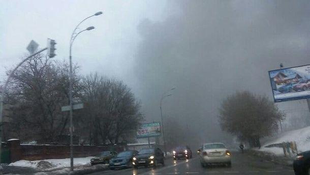 В Киеве - пожар