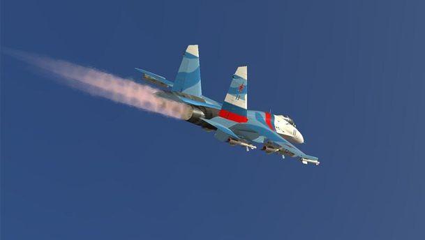 Російський Су-27 перехопив американський літак над Чорним морем