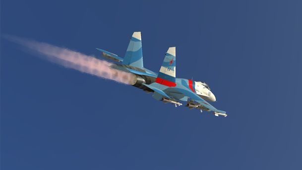Истребитель Су-27 (иллюстрация)