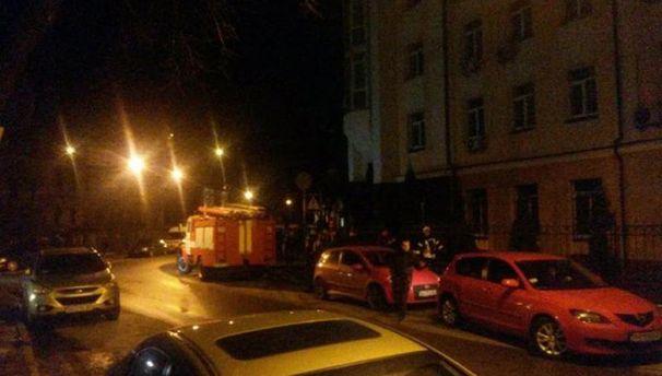 Пожарная машина на улице