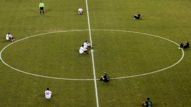 Акция греческих футболистов