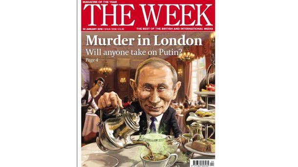 Обложка журнала с Путиным