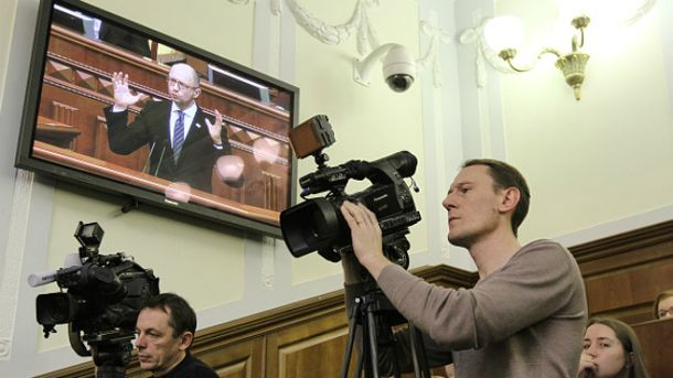 Арсений Яценюк в Верховной Раде
