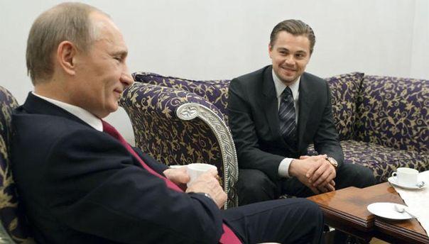 Володимир Путін і Леонардо Ді Капріо