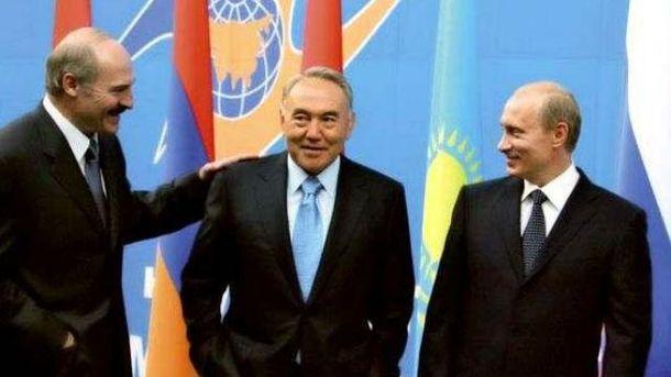 Лукашенко, Назарбаєв і Путін