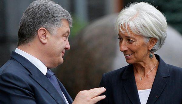 Петро Порошенко і Крістін Лагард