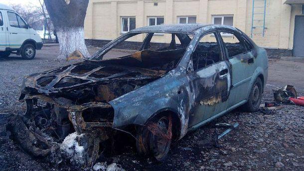 Сожженный автомобиль