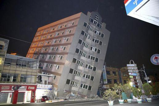 пошкоджена будівля у Тайвані