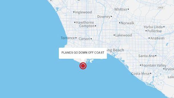 Место катастрофы на карте