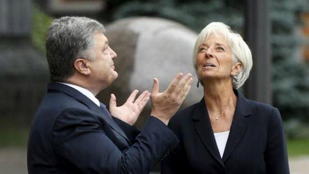 Петро Порошенко, Крістін Лагард