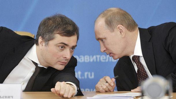 Владислав Сурков и Владимир Путин
