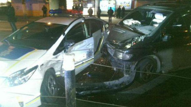 Авария с участием полиции