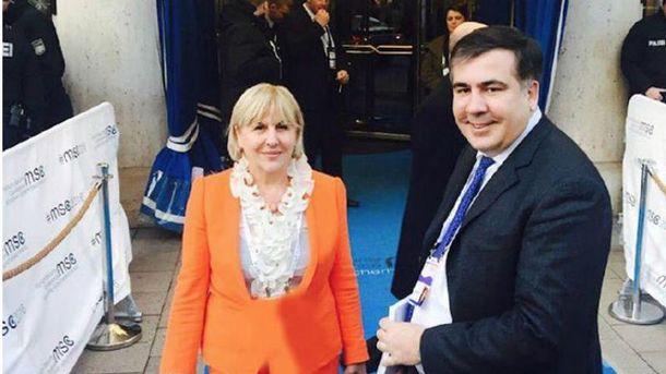 Михеил Саакашвили с мамой