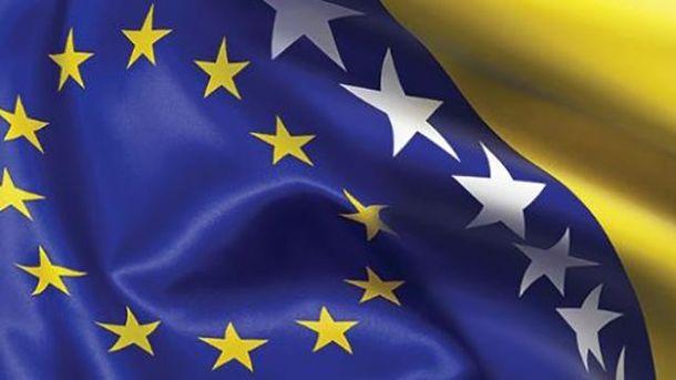 Флаги ЕС и Боснии