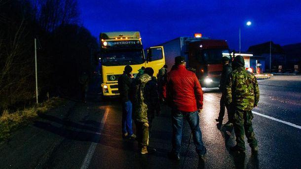 Блокада російський вантажівок