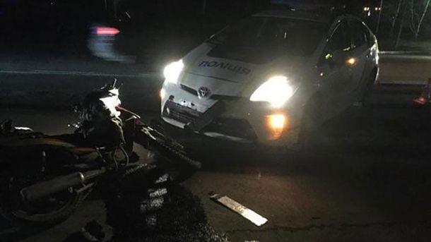 Полицейские сбили скутериста