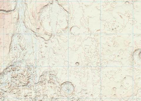 Фрагмент карты Марса