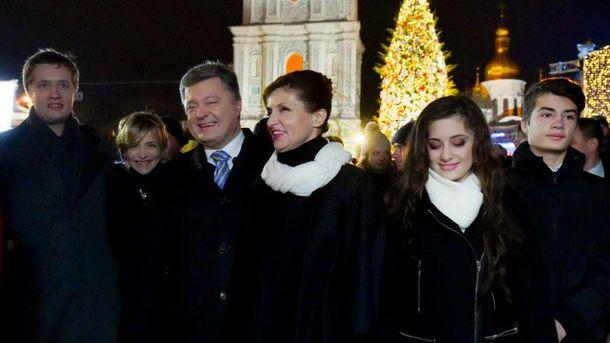 Петро Порошенко з родиною