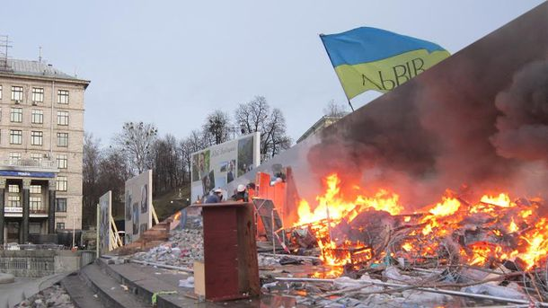 Євромайдан. Ранок кривавого дня. 20 лютого 2014 і 2016: фотопорівняння