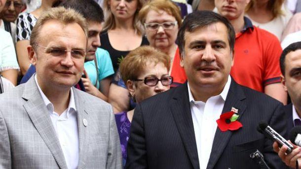 Андрій Садовий, Міхеїл Саакашвілі