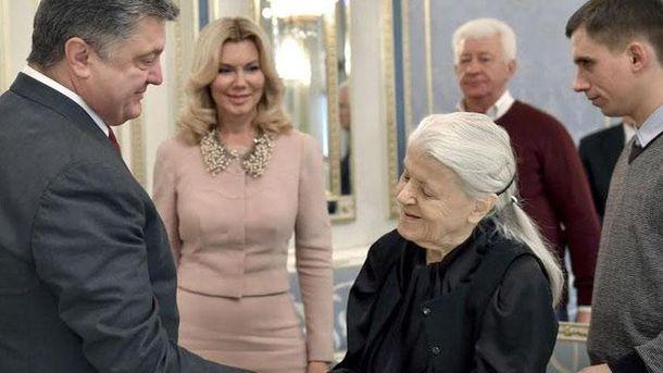 Валерия Вирская с Петром Порошенко