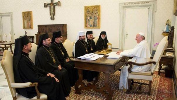 Встреча представителей УГКЦ с Папой Римским