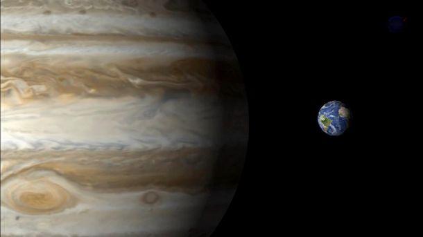 Юпитер и Земля