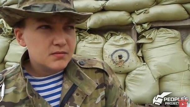 Надежда Савченко на фронте
