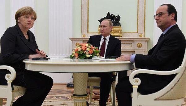 Меркель и Олланд в гостях у Путина