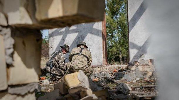 Тренировка украинских военных
