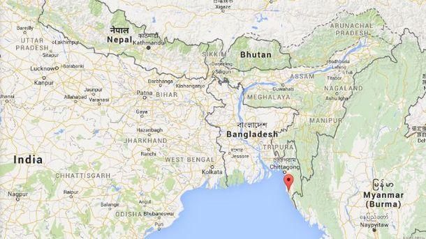 Місце катастрофи літака АН-26 у Бангладеш