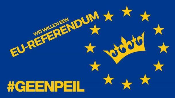 Плакат GeenPeil до референдуму щодо УА з Україною