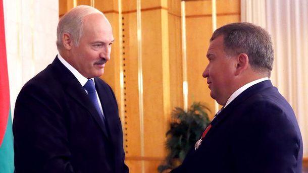 Олександр Лукашенко і Юрій Чиж