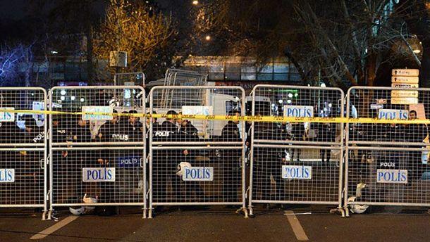 Место теракта в Анкаре