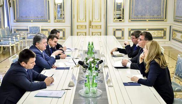 Встреча Порошенко с Линкявичусом