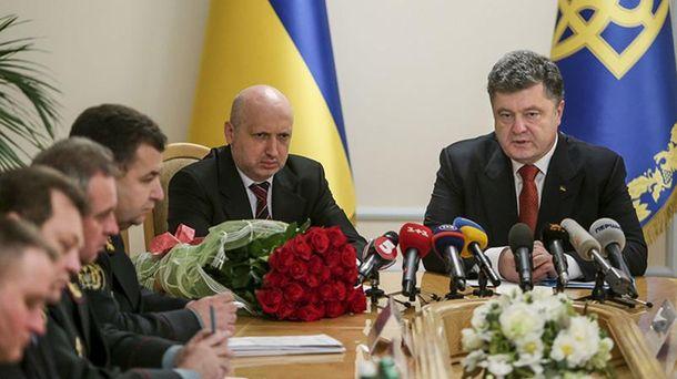 Петро Порошенко і Олександр Турчинов