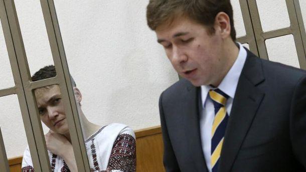 Надежда Савченко и ее адвокат Илья Новиков