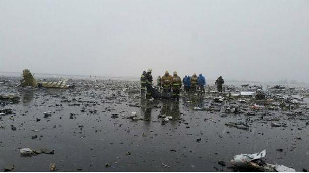 Boeing разбился в Ростове