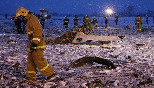 Место авиакатастрофы в Ростове-на-Дону