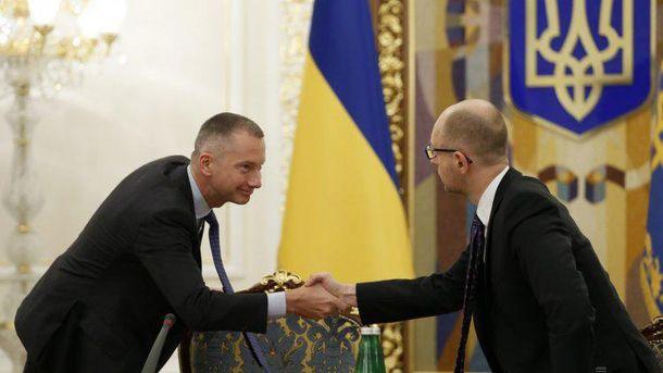 Борис Ложкін і Арсеній Яценюк