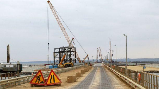 Недостроенный Керченский мост