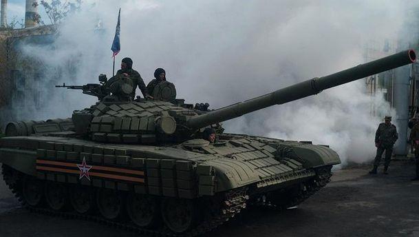 Бойовики на танку (ілюстрація)