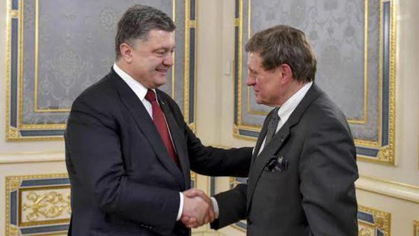 Петр Порошенко и Лешек Бальцерович