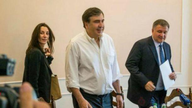 Хатия Деканоидзе, Михеил Саакашвили и Арсен Аваков