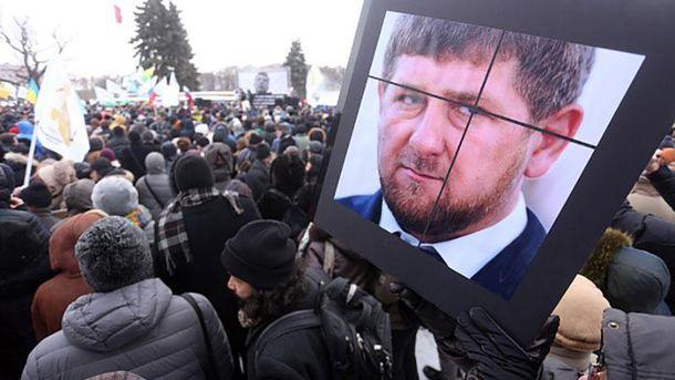 Плакат с Рамзаном Кадыровым