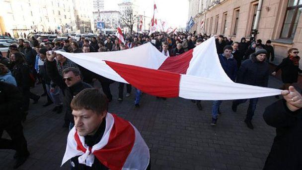 Шествие ко Дню Воли в Беларуси