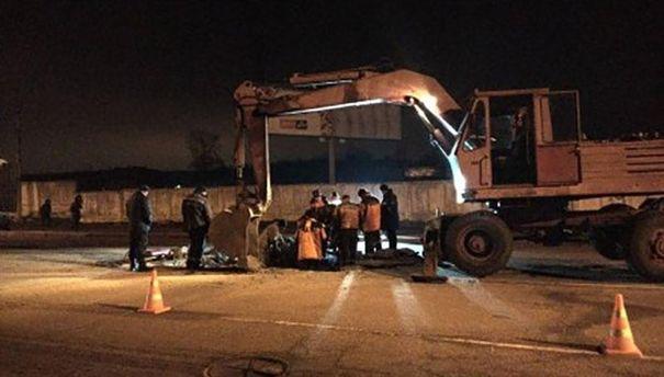 Авария газопровода в Харькове